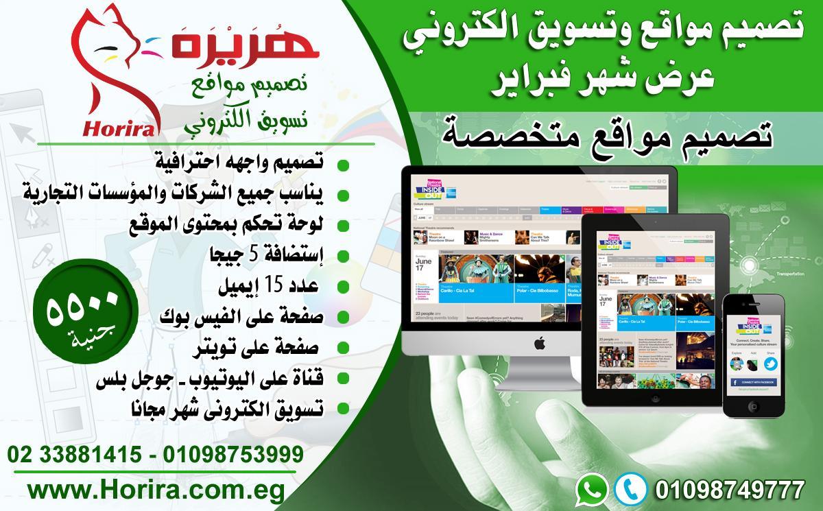 تصميم مواقع وتسويق الكتروني