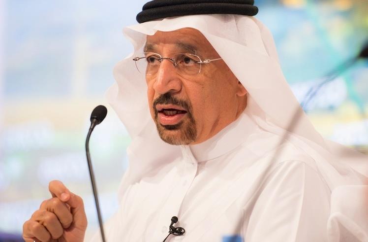 وصول وزير البترول السعودي خالد الفالح الى العاصمة بغداد