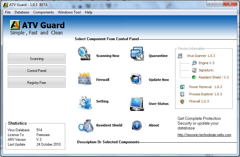 ATV Guard Antivirus 1.0.3 BETA L مكافح فيروسات بالفجوال بيسك 6 173361935