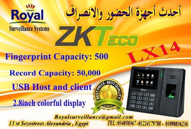جهاز حضور وانصراف ماركة ZK Teco  موديل  LX14 752344613
